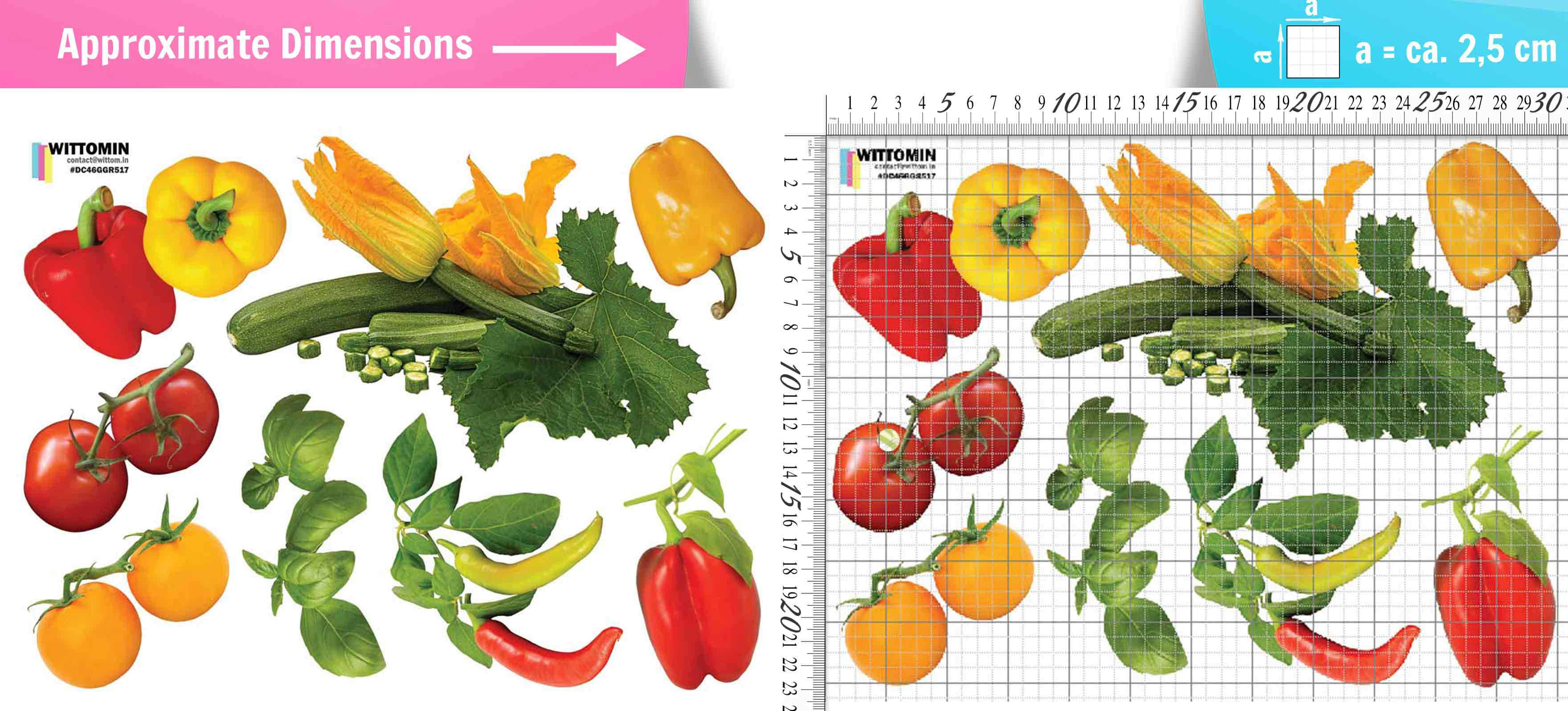 Vegetables - paprika, tomatoes sticker set from Wittomin