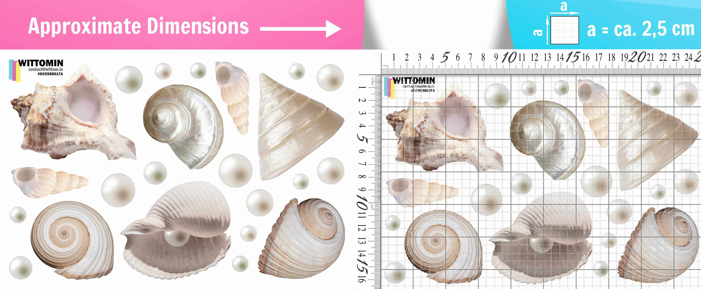 Shells and pearls sticker set from Wittomin