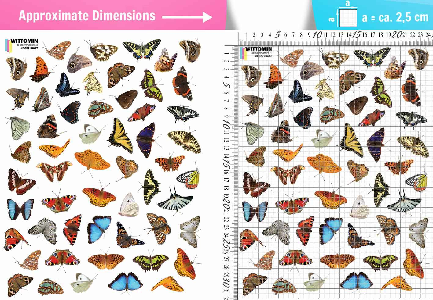 Small butterflies sticker set from Wittomin