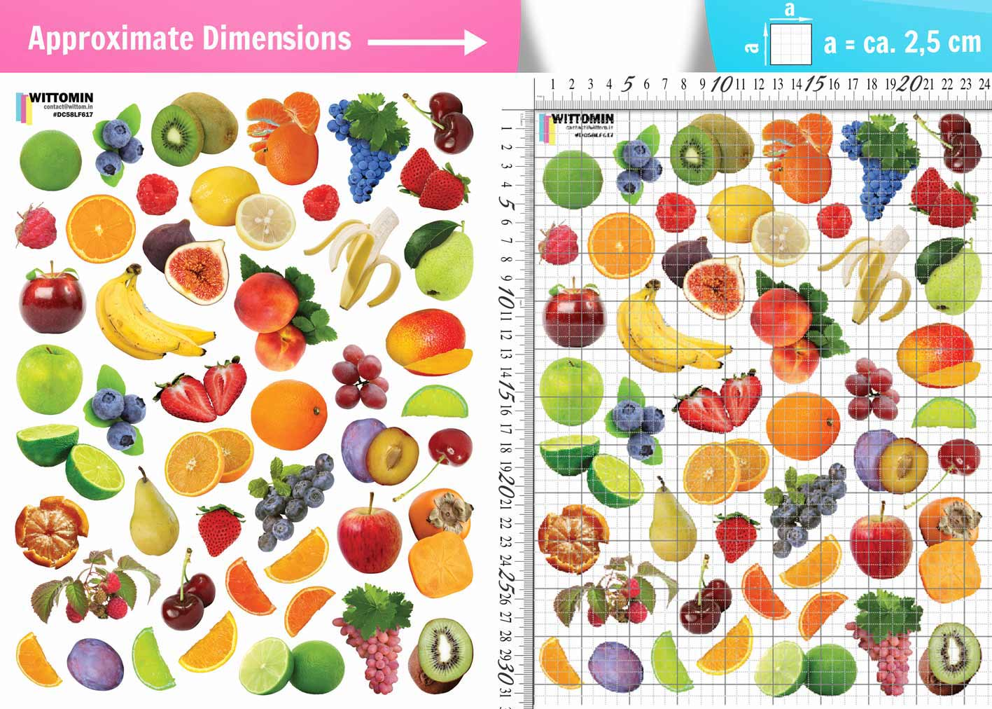Small fruits sticker set from Wittomin