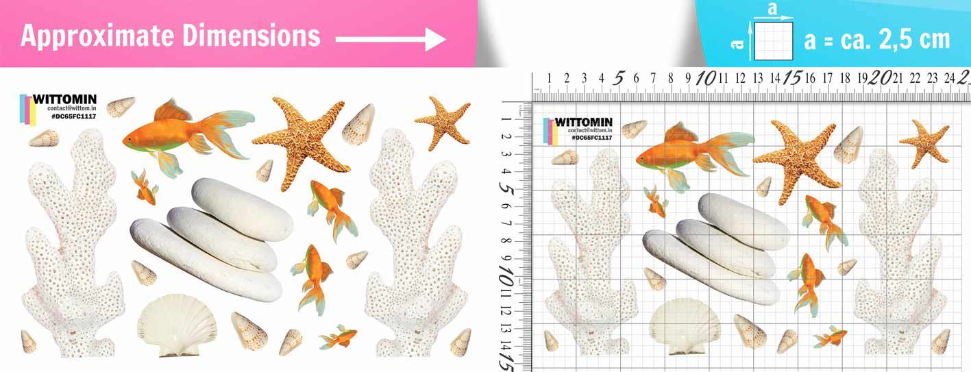 Corals and goldfish sticker set from Wittomin