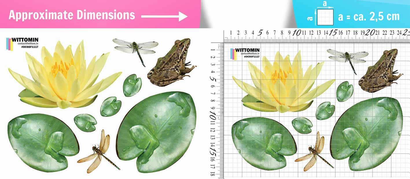 Lilys and frog sticker set from Wittomin
