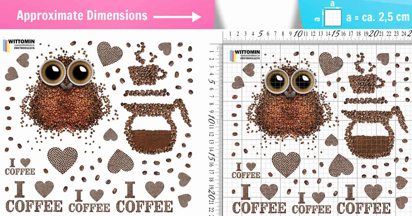 I love coffee owl small sticker set from Wittomin