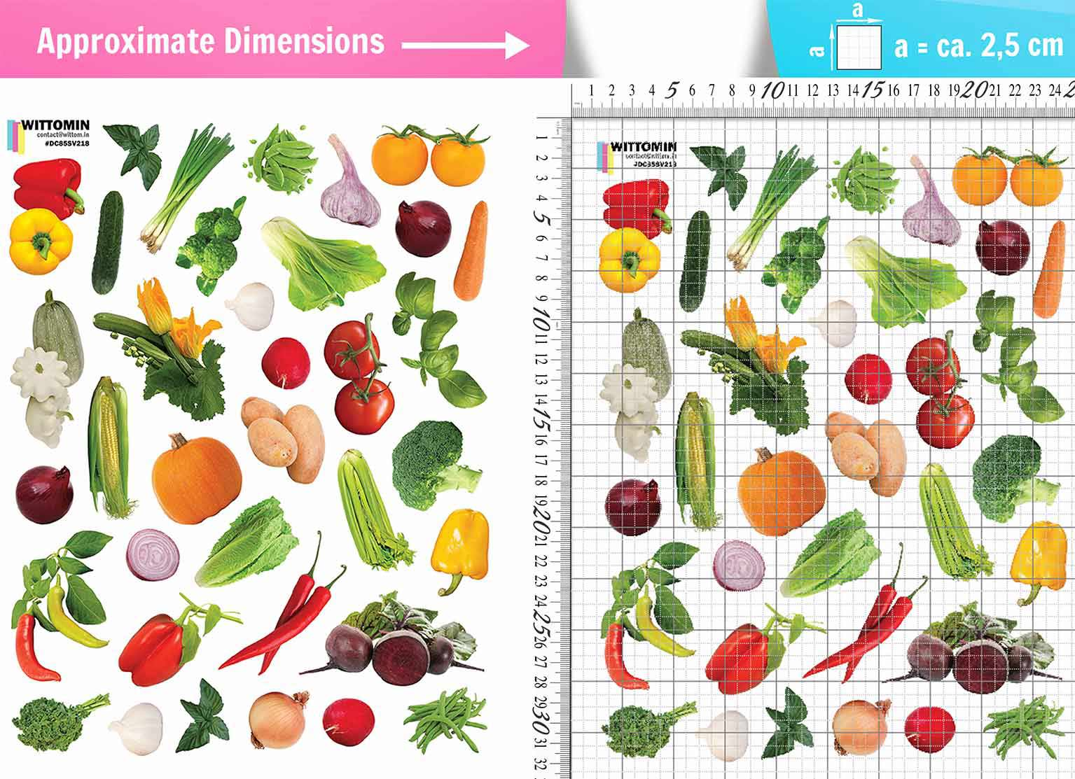 Small vegetables, tomatoes sticker set from Wittomin