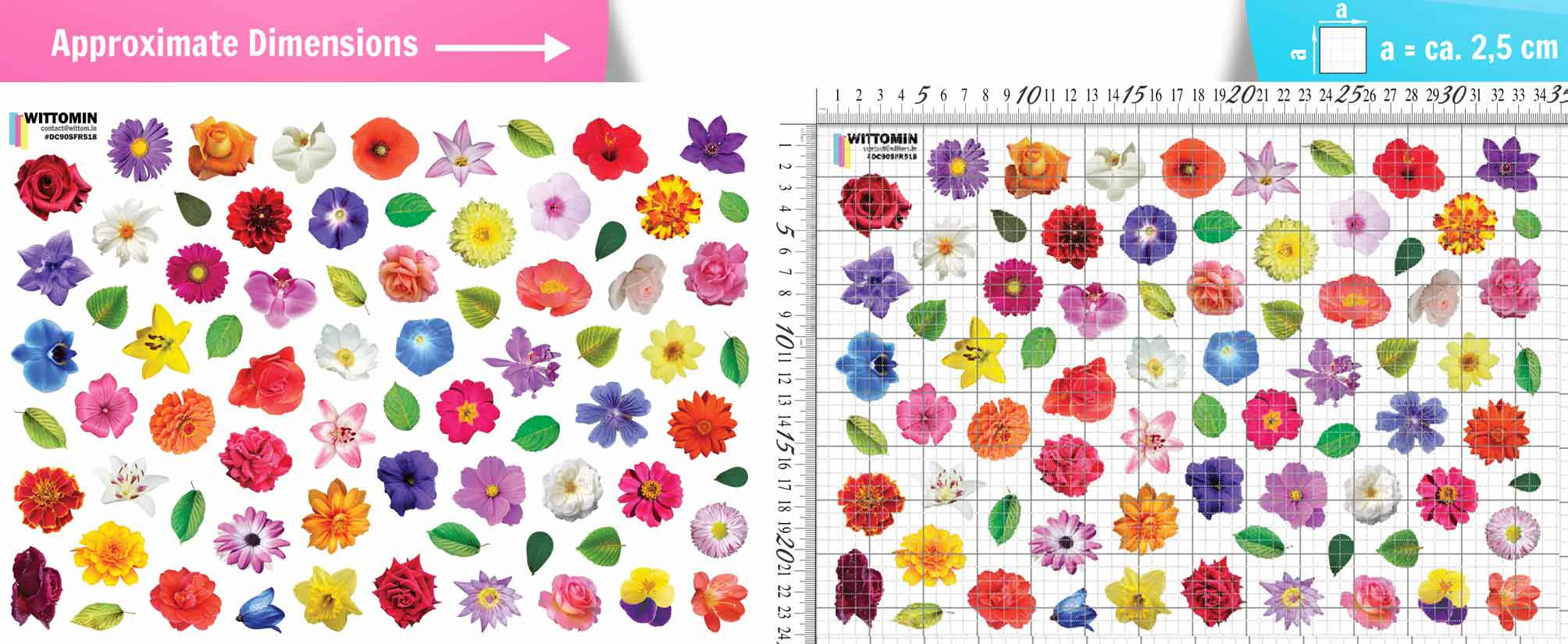 Small Flowers sticker set from Wittomin