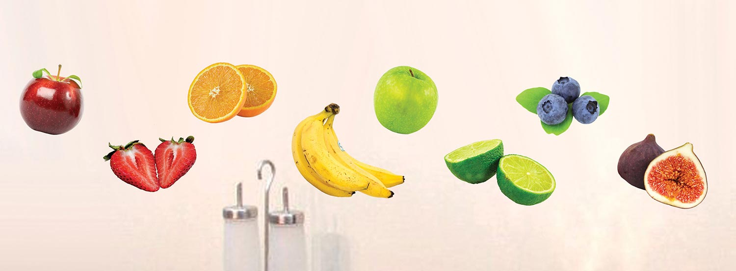 Wittomin Vinyl Stickers Fruits