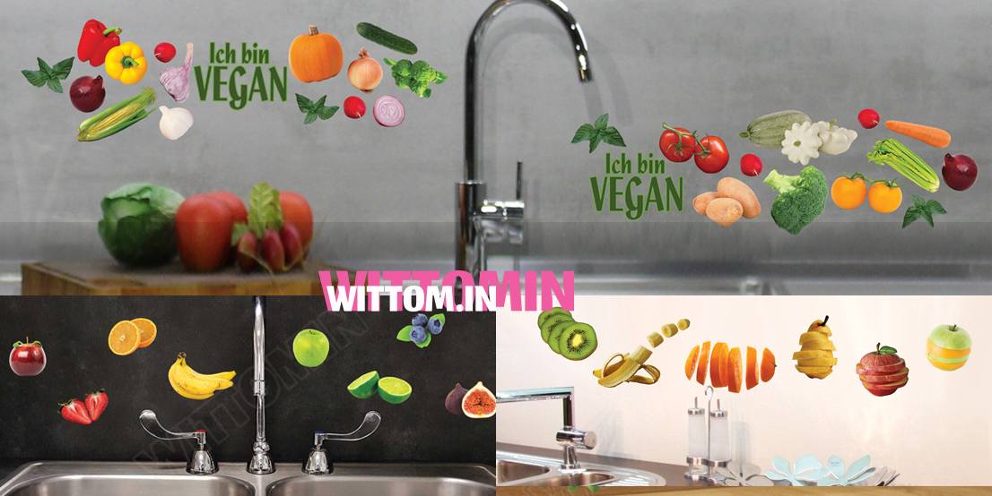Vinyl Stickers for kitchen with fruits and vegetables Wittomin